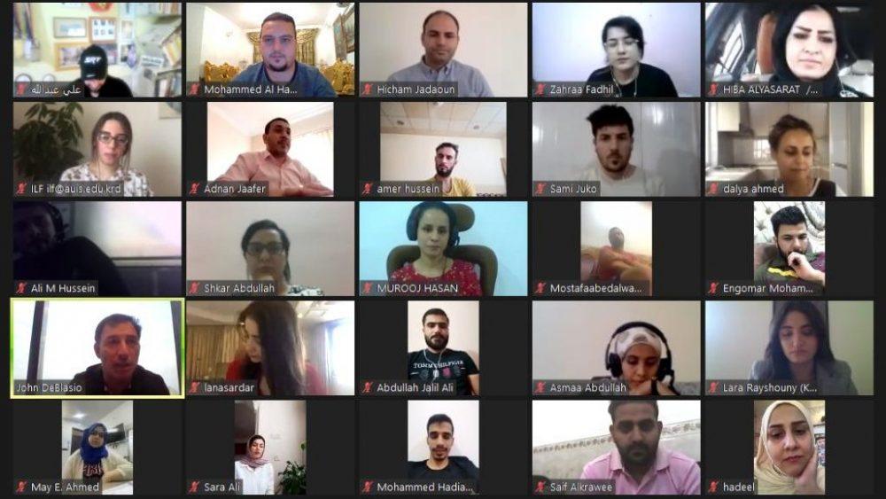 انعقاد الورشة الثانية من زمالة قادة العراق 2019-2020 عبر الانترنت بسبب الجائحة